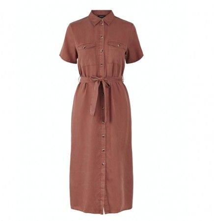 Pieces - Nola dress / copper brown