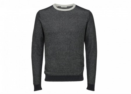Selected Homme - Bran blocking crew neck / Grå