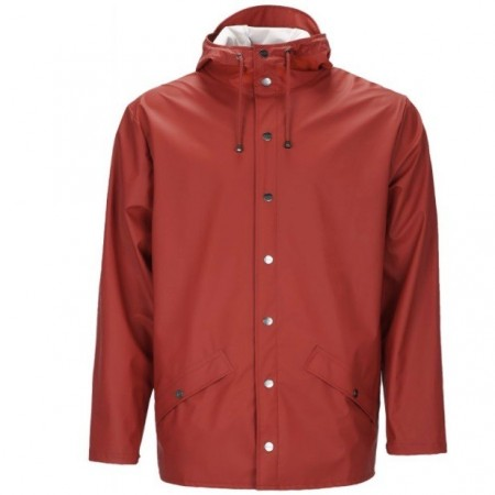 Rains Short Jacket / Scarlet