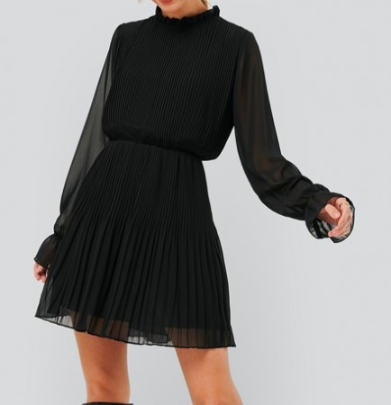NA-KD - Pleated elastic waist dress