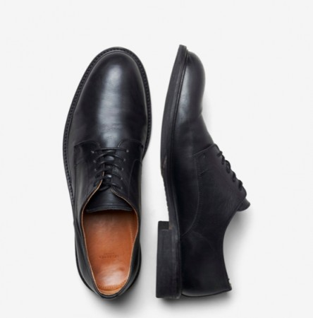 Selected Homme - Louis leather derby shoe / Black