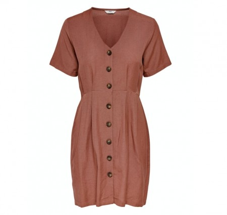 Only - Viva life ss button dress / Apple