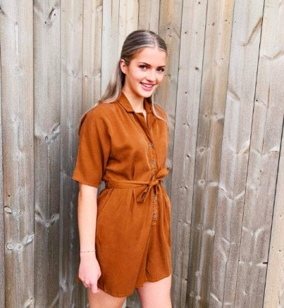 Only - Chilli Life Playsuit / kahki