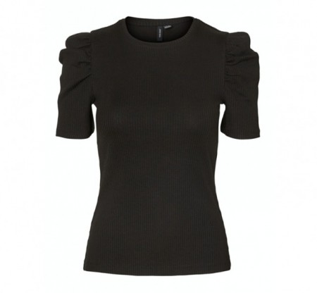 Vero Moda - Polly puff / black