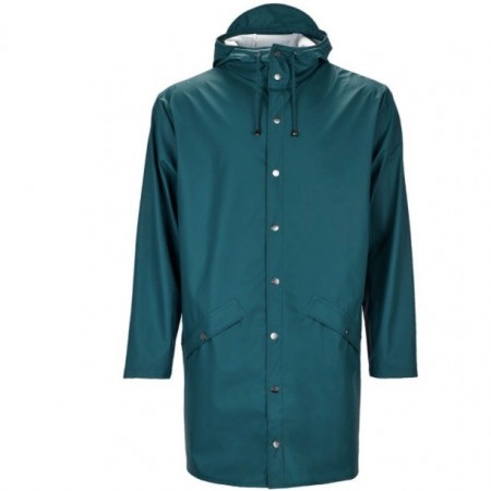 Rains long jacket / Dark teal