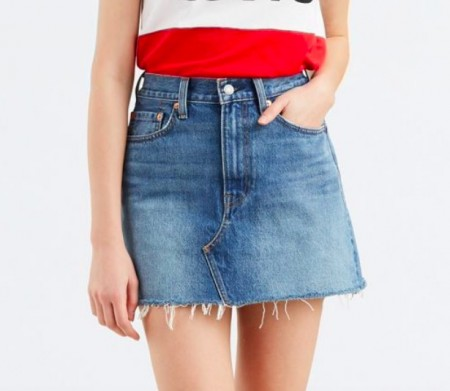Levis Dame - Deconstructed skirt middle man